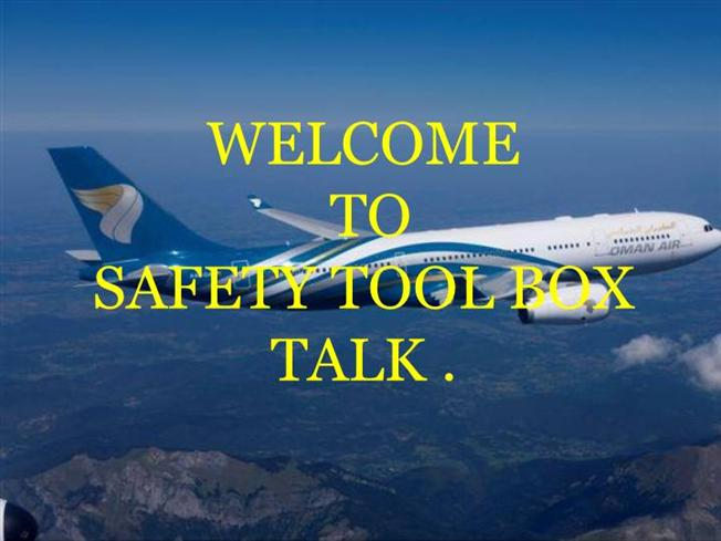 safety tool box talk template .