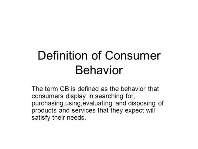 definition of consumer behaviour The black box model of consumer behaviour identifies the stimuli responsible for buyer behaviour the stimuli (advertisement and other forms of promotion about the product) that is presented to the consumer by the marketer and the environment is dealt with by the buyer's black box the buyer's black box, comprises two sub components.