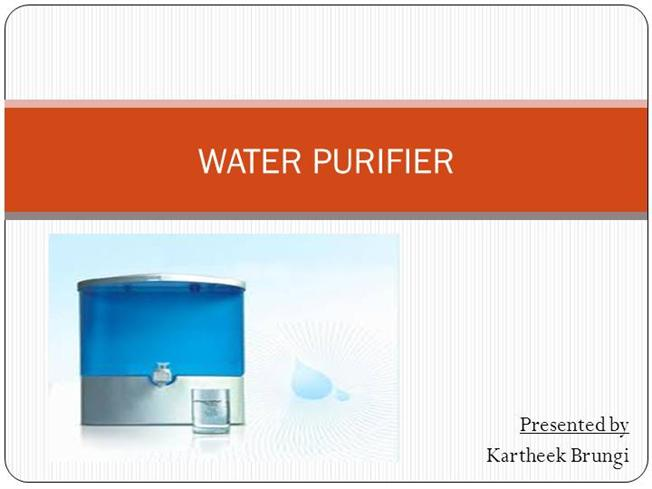 essay on water purification Portable water purification systems - Essay Example