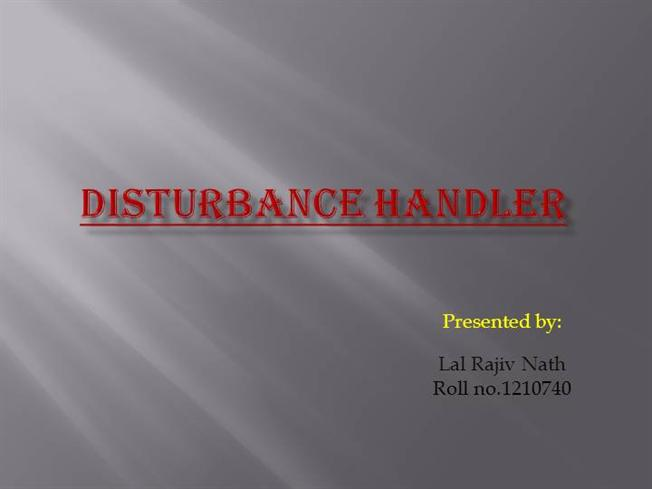 """defination of disturbance handler In particular, mintzberg (1973) emphasised the importance of the """"disturbance handler"""" role that was defined by him as """"the managerial function responsible for taking corrective action in response to involuntary situations that threaten the smooth running of the organisation but are partially beyond managerial control""""."""