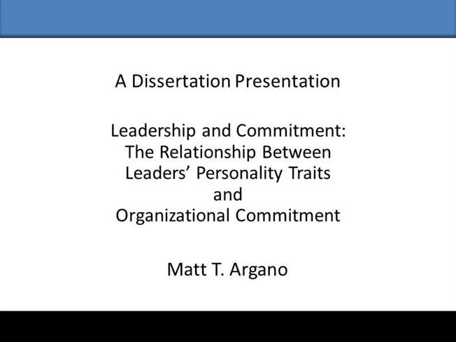 Dissertation Abstract Organizational Change