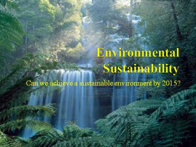 how to create a sustainable environment