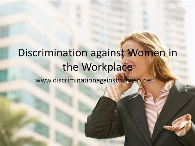 thesis on gender discrimination in the workplace