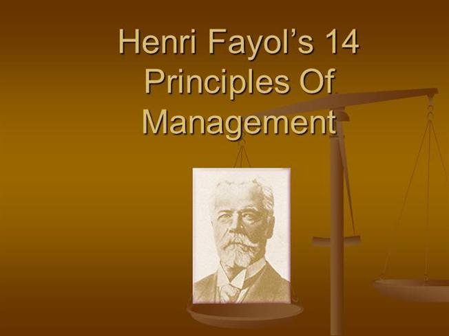 henry fayol 14 principle application Application of henri fayol ¶s managerial principles in nigerian secondary application of the fayol ¶s principles generally improve the students ¶ performances solicited included demographic characteristics of respondents and perception on henri fayol ¶ 14 managerial principles.