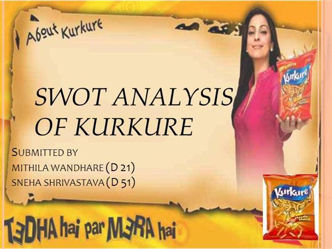 swot analysis of frito lays kurkure Pepsico's marketing mix or 4ps (product, place, promotion, and price) are shown in this case study and analysis on marketing plan approaches and objectives.