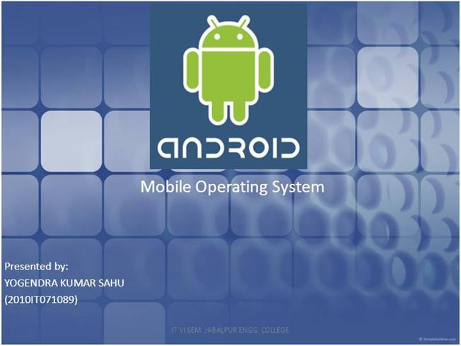 android mobile operating system pdf