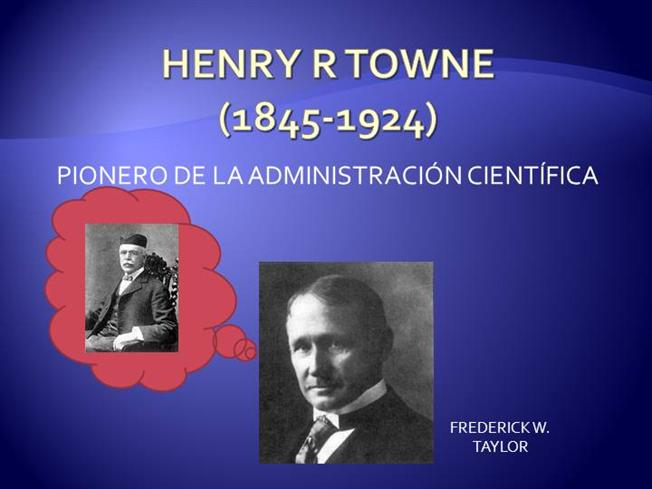 henry r towne Public organization theory henry towne was an efficiency expert robert merton pointed out that bureaucracies have dysfunctions.