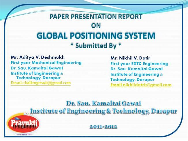 thesis on gps system