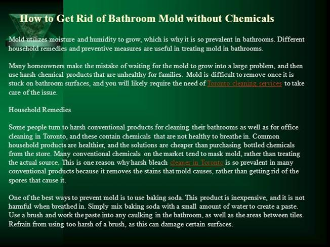 How To Get Rid Of Bathroom Mold Without Chemicals