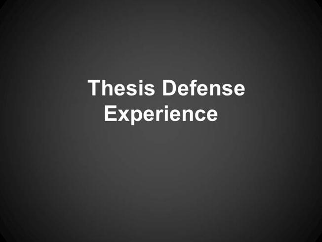 a thesis defense