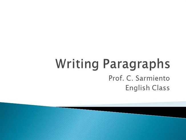 paragraph writing on education