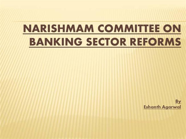 reforms in banking sector in india