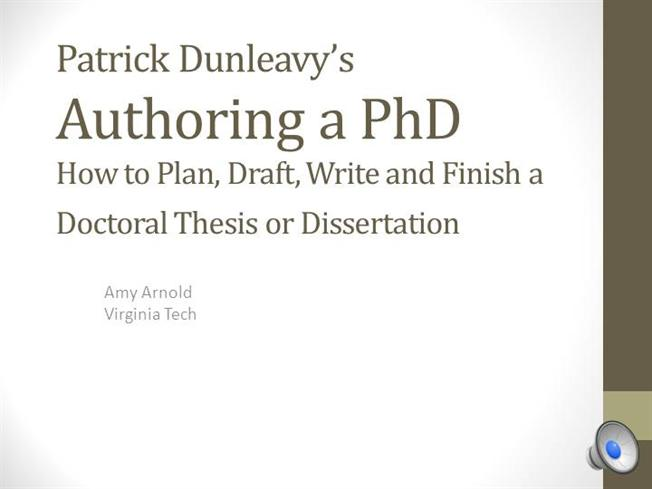 dunleavy thesis Structuring your thesis adapted from patrick dunleavy, authoring a phd (2003) dr paul frazer (pfrazer@qubacuk) postgraduate and international student centre.