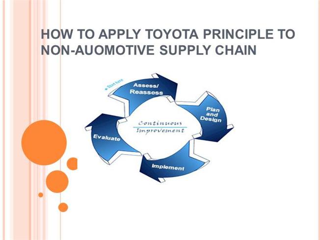 toyota supply chain case study Toyota - supply chain case study topics: toyota recent supply chain issues in toyota in 2008, it was the largest automobile manufacturer in the world.