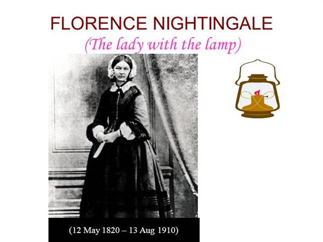 History of nursing part ii authorstream for Florence nightingale lamp template