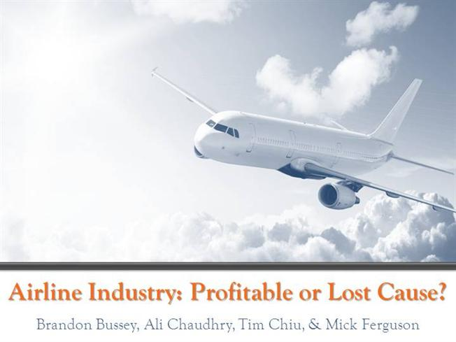 analysis and recommendations for the airline industry Porter's five forces analysis of the airlines industry in the united states.