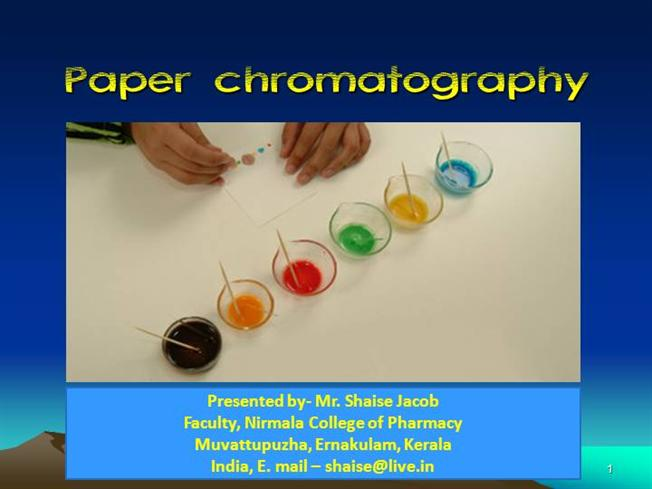 What is the purpose of paper chromatography