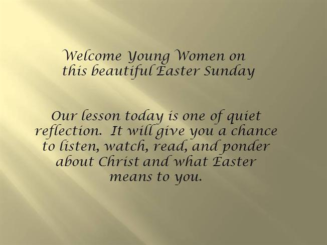 lds yw easter presentation authorstream