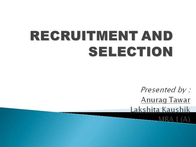 thesis recruitment and selection process