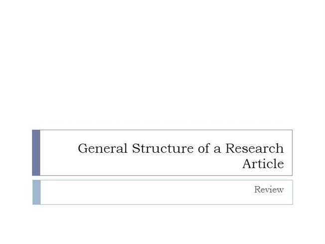 Writing scientific research articles: strategy steps