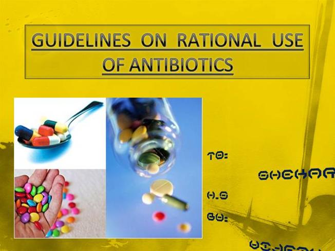 rational use of antibiotics Clinicians working in the intensive care unit (icu) setting encounter the dilemma of prescribing antibiotics to treat critically ill patients with serious infections while minimizing the emergence and spread of antimicrobial resistance delaying the administration of appropriate antibiotic therapy (ie, an antibiotic.