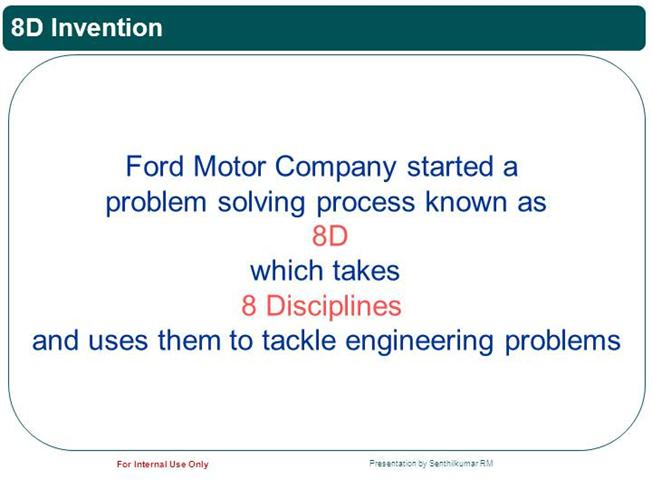 8d problem solving authorstream for Ford motor company powerpoint template