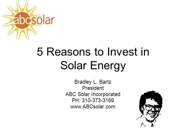 5-Reasons-To-Invest-In-Solar-Energy |authorSTREAM