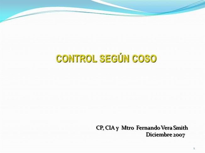"""coso presentation 2 mission •coso's mission is """"to provide thought leadership through the development of comprehensive frameworks and guidance on enterprise risk management."""