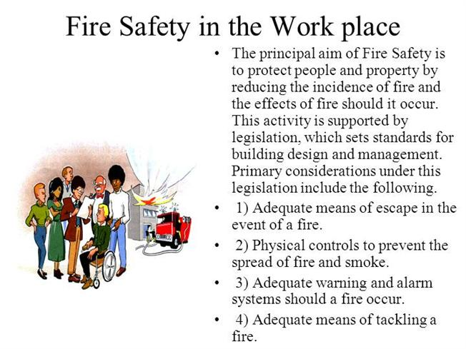 Fire Safety in the Work Place Slides - 61.8KB