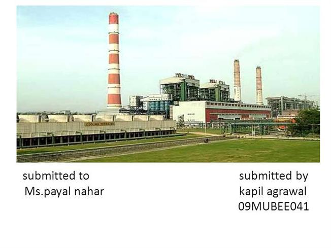 Presentation On Thermal Power Plant