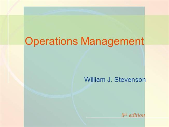 operations management stevenson 10th edition solutions Operations management (mcgraw-hill series in operations and decision sciences) [william j stevenson] on amazoncom free shipping on qualifying offers stevenson's operations management features integrated, up-to-date coverage of current topics and industry trends.