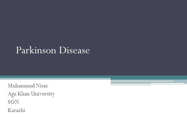 Research paper on Parkinsons disease?