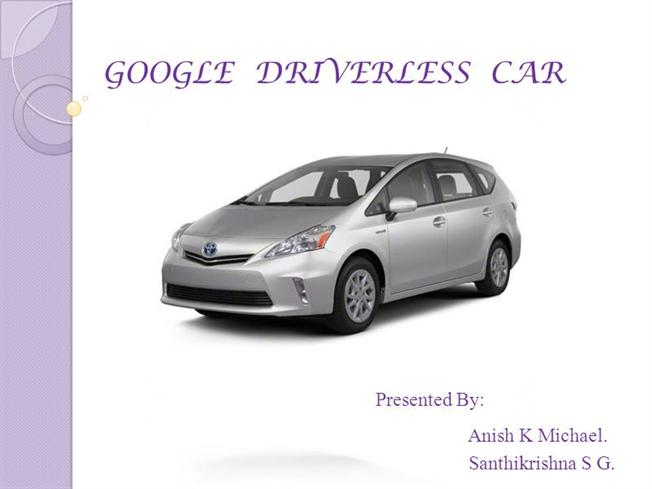 google car without driver pdf