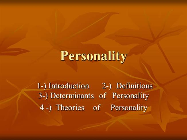 an introduction to theories of personality ewen pdf