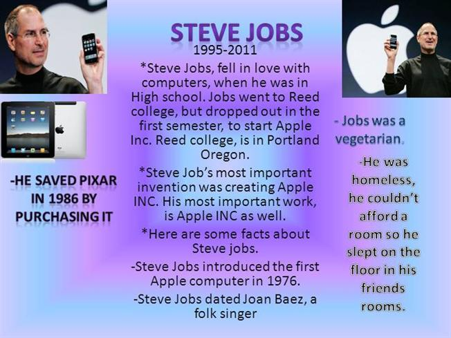 Steve jobs by lexi l authorstream for Steve jobs powerpoint template