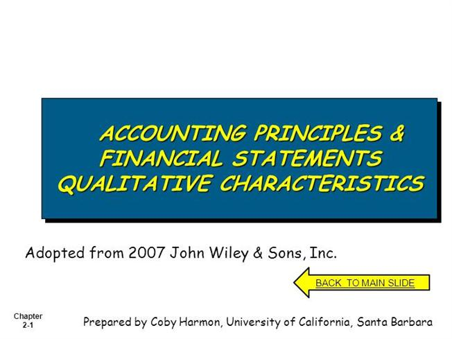 characteristics of financial statements Financial statements should be relevant to the objectives of the enterprise this will possible when the person preparing these statements is able to properly utilize the accounting information.