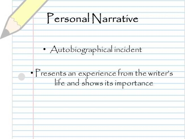Biographical Narrative Essay Powerpoint