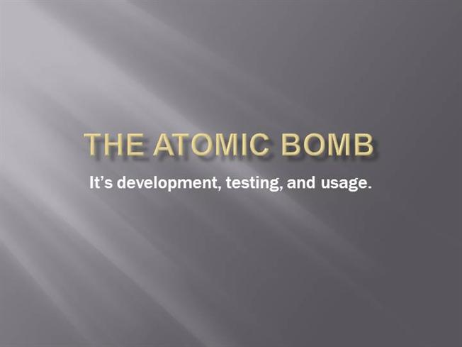the development testing and use of the atomic bomb People downwind of the atomic trinity test want a place in the  the obelisk at  trinity stands near the remains of the tower that held the world's first atomic bomb   not to use jumbo, instead placing it 800 yards away from the blast site)   plutonium ingestion as increasing the risk of developing cancer.