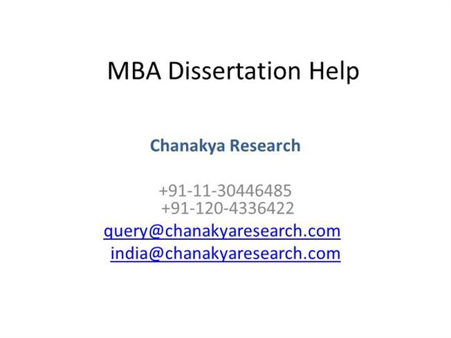 Why MBA students need help to write a Dissertation?