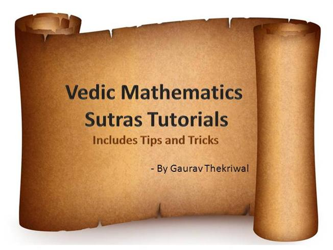 vedic maths sutras with examples pdf