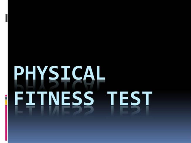 physical fitness test