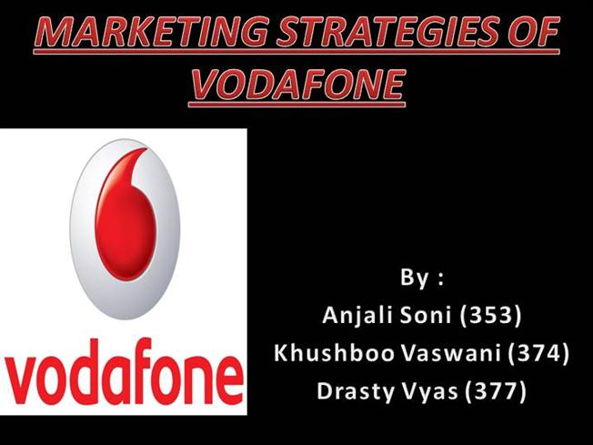 marketing strategies of vodafone Marketing mix of vodafone analyses the brand/company which covers 4ps (product, price, place, promotion) vodafone marketing mix explains the business & marketing strategies of the brand it also consists of service mix (process, people, physical evidence.