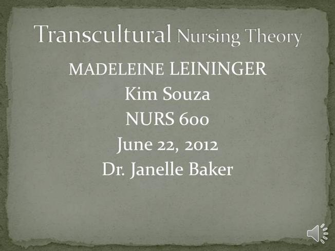 nursing theorist madeline leininger Madeleine leininger - timeline • 1965 - first professional nurse to earn a phd in anthropology • 1966 - proposed the culture care theory • 1969-1974 accomplishm ents • theorist • culture care theory • author • 27 books author and editor • 200 plus articles and book chapters • producer • audio.