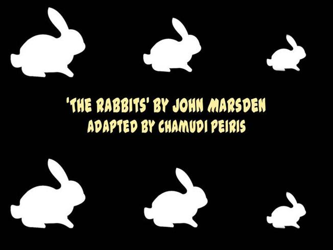 the rabbits by john marsden That is, myths of white settlement have been, and continue to be, the basis for ideological, institutional and societal practices and beliefs that centre non- indigenous cultures and relegate indigenous cultures to the margins we have chosen john marsden and shaun tan's 1998 multi-award-winning text the rabbits as the.
