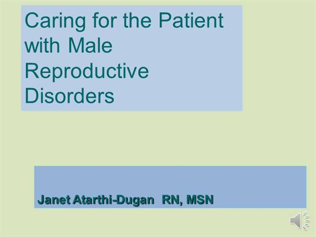 nursing management male reproductive problems For about one in five infertile couples the problem lies solely in the male partner (male infertility) order management & support symptoms reproductive.