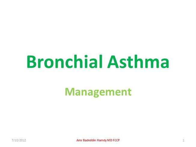 Phd dissertation on asthma