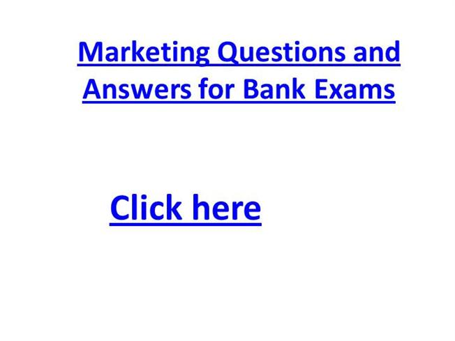 marketing question bank