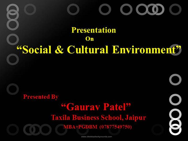 social cultural environment Socio-cultural environment is a collection of social factors affecting a business and includes social traditions, values and beliefs, level of literacy and education, the ethical standards and state of society, the extent of social stratification, conflict and cohesiveness, and so forth socio.