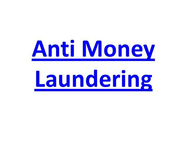 Anti money laundering authorstream for Anti money laundering program template