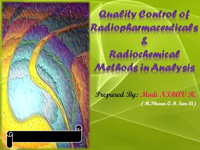 quality control of radiopharmaceuticals pdf